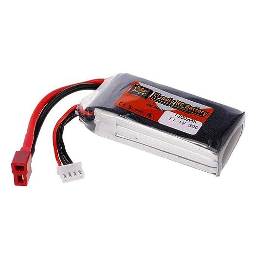 Batería de 11,1 V 1300 mAh 30 C 3S Conector T para drones RC FPV