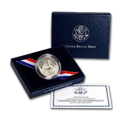 2008 S Bald Eagle Commemorative Proof CN Clad Half Dollar Gem Deep Cameo US Mint