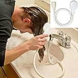 Iusun Faucet Shower Head Spray Drains Strainer Hose Sink Washing Hair Wash Shower Bath Shower (White 1)
