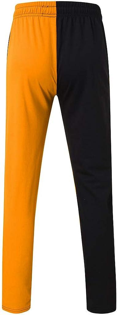 Pantal/ón Costuras en Bloque de Color para Hombres,Ch/ándal con Bolsillo y Capuchado Chandales para Oto/ño Invierno MOVERV-Conjuntos Deportivos Chandal Hombre Completo,Completo de Chaqueta