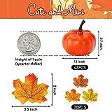 HAKACC 48 PCS Mini Fake Pumpkins Mini Artificial