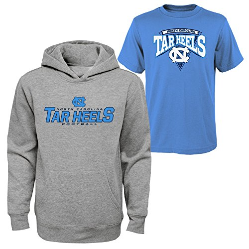 Assorted Apparel - Outerstuff NCAA Youth Boys 8-20 NORTH Carolina Tee & hood Set, M(10-12), Assorted