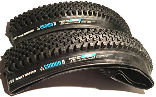 Vee - Pair of 2 Crown R-adius 29x2.30 Bike Tires Folding Bead Dual Control Compound (Nine Industry Mountain Bike)