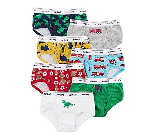 Carter's Boys' 7 Pack Dinosaur And Firetruck Underwear 2T/3T