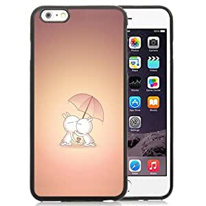 New Personalized Custom Designed For iPhone 6 Plus 5.5 Inch Phone Case For Cartoon Rabbits Kissing Phone Case Cover
