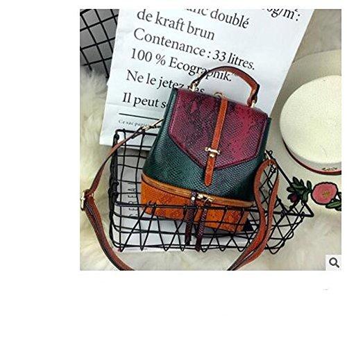Bolsos de Verde Verde Botones Cremallera del Bolso Rosa Hombro Mujeres Azul de Rubor Verde GMYAN Las PU dA5wATq
