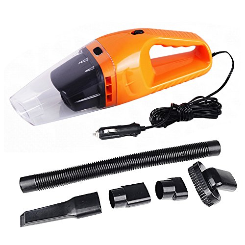 Portable 120W 12V Car Vacuum Cleaner Super Suction Wet and Dry Dual Use Car Washing Tool with 16ft Length Cable for 2006 2015 2017 Version Jeep Renegade Model Orange by Sopear