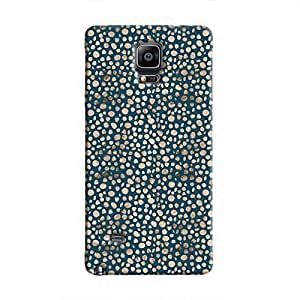 Cover It Up - Brown Navy Pebbles Mosaic Galaxy Note 4 Hard Case