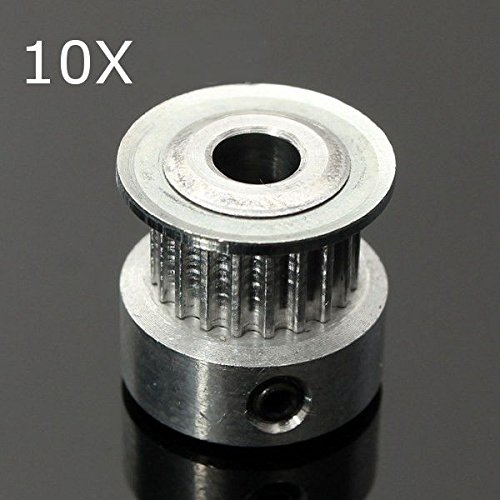 0203 - 10Pcs 20T GT2 Aluminum Timing Drive Pulley For DIY 3D Printer from Aigh Auality shop