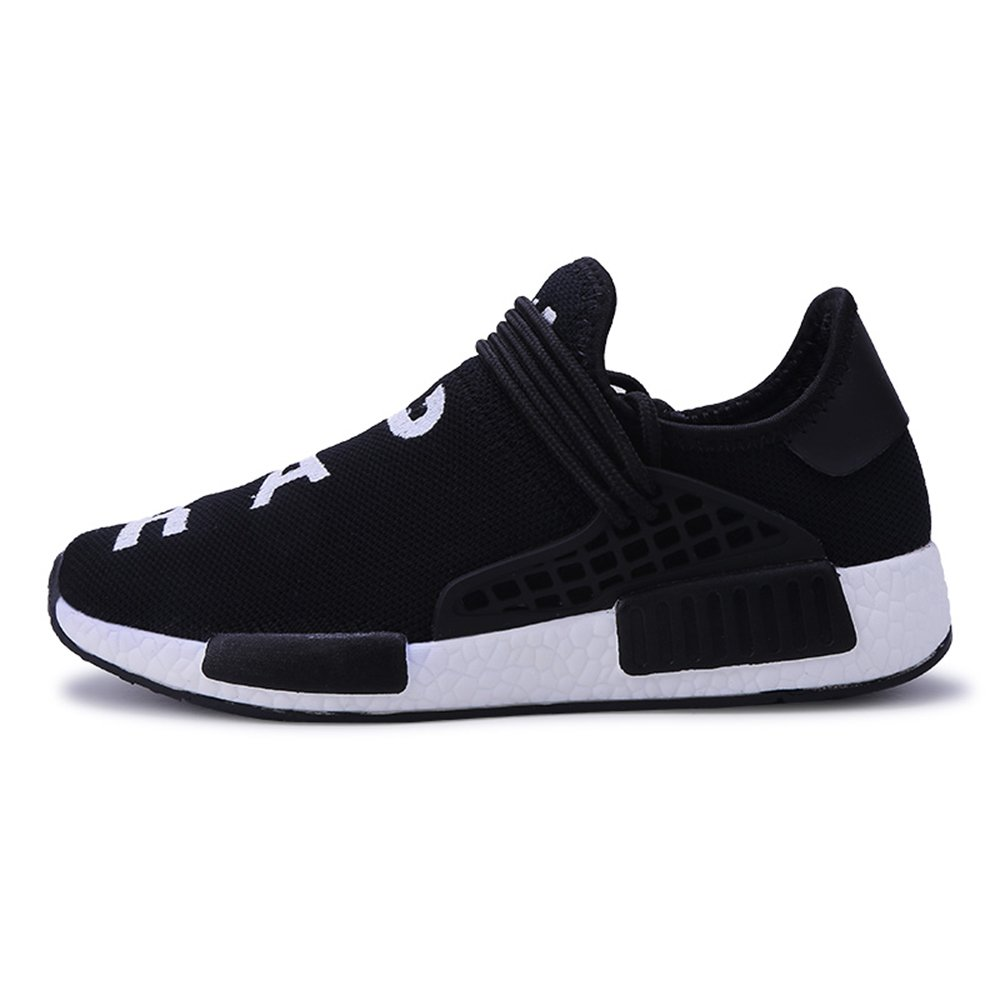 KUXIE Fashion Sneakers Mens Summer Casual Shoes Breathable Mens Trainers Running Shoes Womens Sport Shoes (9.5, Black)