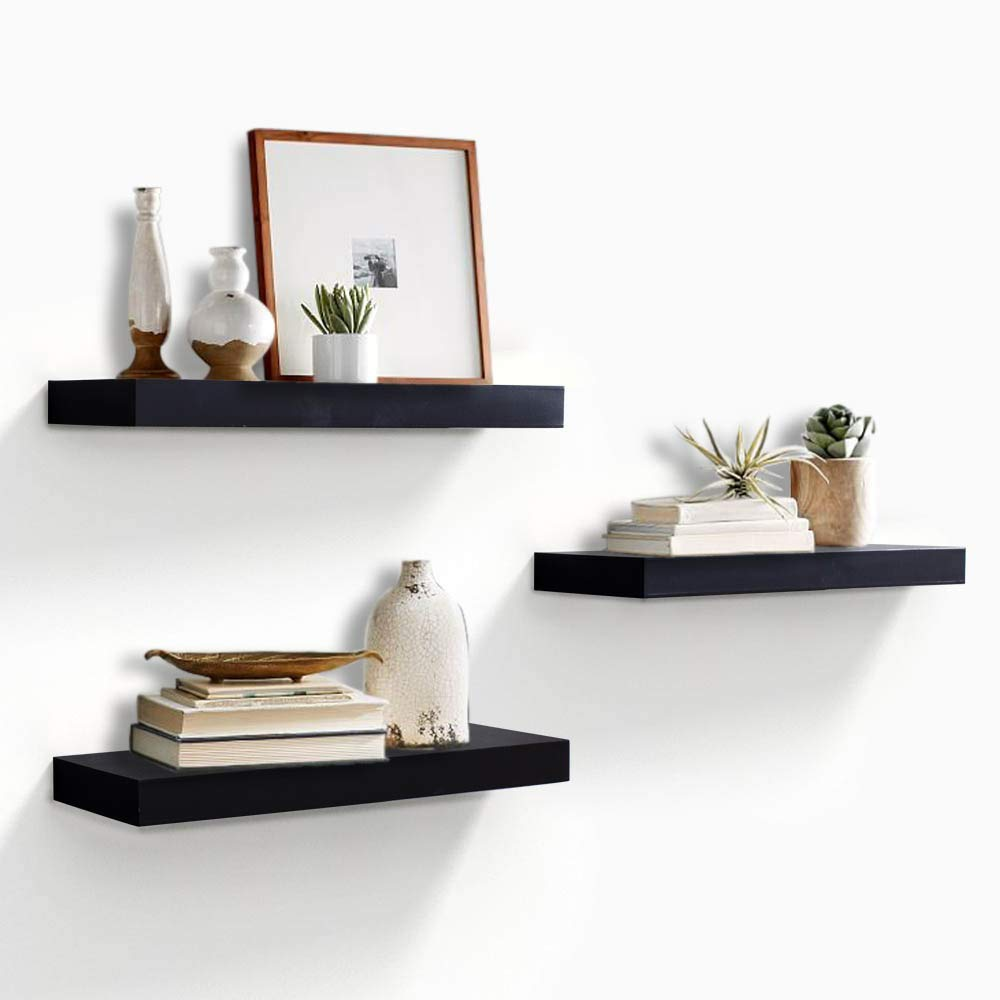 Kundi Intersecting Floating Shelves 4 Cube Square Wall Mounted Shelves Wood Home Furniture Accent Decorative Wall Shelf Black 47 Cm X 10 Cm X 65 Cm Black Modern10 Amazon In Electronics