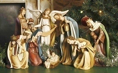 8-Piece Joseph's Studio Religious Ceramic Christmas Nativity Set Nativity Ceramic
