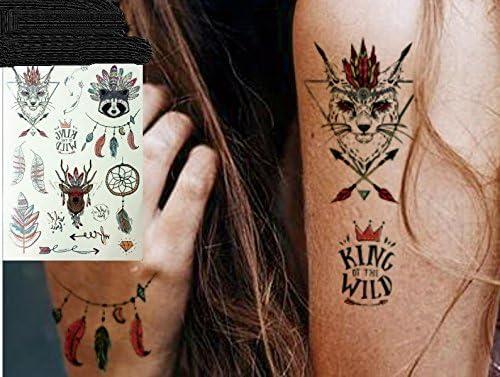 Metallic Tattoo Silver y multicolor Tatuajes Muelle atrapasueños ...