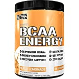 Evlution Nutrition BCAA Energy - High Performance Amino Acid Supplement for Anytime Energy, Muscle Building, Recovery & Endurance, Pre Workout, Post Workout (Peach Lemonade, 30 Servings)