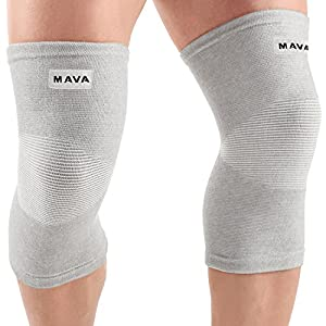 Mava Sports Knee Support Sleeve for Sport, Patellar Stabilizer.