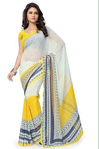 Ruchi Mart Bollywood Indian Ethnic Designer Chiffon Saree Sari Bridal Party Wear (Designer Chiffon Sarees)