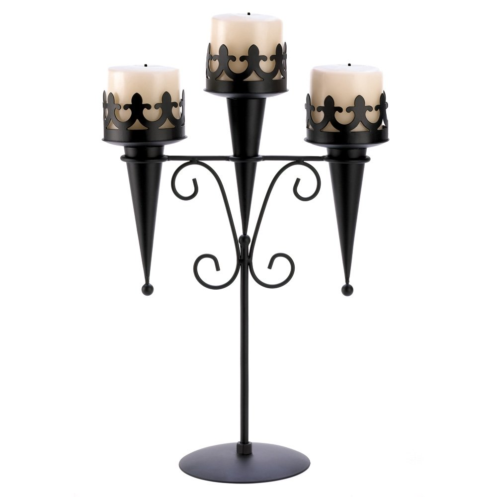 amazon com gifts u0026 decor black iron medieval style triple lantern