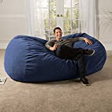 Jaxx 7 ft Giant Bean Bag Sofa with Premium Chenille Cover, Navy