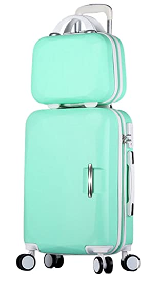 c9aca32b4da2 Song Luggage Spinner Luggage ABS Trolley Travel Lightweight Hardshell  Suitcase - 20 Inch Mint Green Set