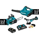Makita XT274PTX 18V X2 (36V) LXT Lithium-Ion Cordless 2 Piece Combo Kit (5.0Ah) & Brushless Angle Grinder