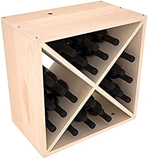 Wine Racks America Ponderosa Pine 24 Bottle Wine Cube. 13 Stains to Choose From!  sc 1 st  Amazon.com & Amazon.com: Wine Enthusiast 24 Bottle Compact Cellar Cube Wine ... Aboutintivar.Com