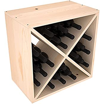 wine racks america ponderosa pine 24 bottle wine cube 13 stains to choose from
