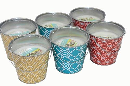 (Pack Of 6) Patio Essentials 18 Oz. Citronella Candle In Painted GEO Design
