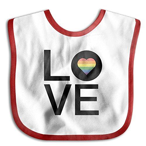 Rainbow Love Heart Gay Pride Baby Boys Girls Waterproof - Appropriate Pranks