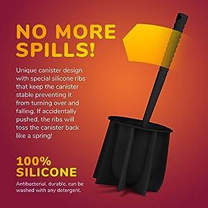 Tyroler Antibacterial Toilet Brush - no spills