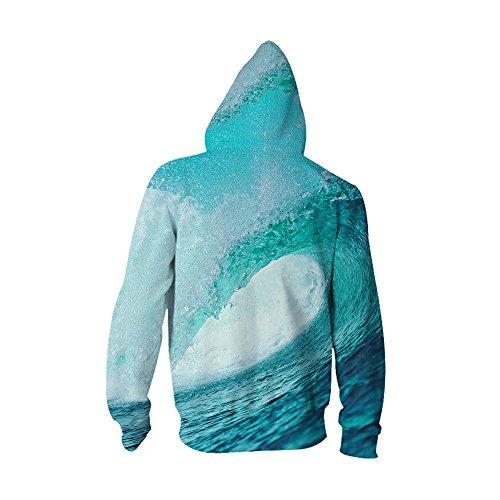 Veste Manches Homme shirt Zip Avec Hoodie Sweat Blouse À Bleu Acvip Ciel Capuche Pull Longue S4xgqaxwH