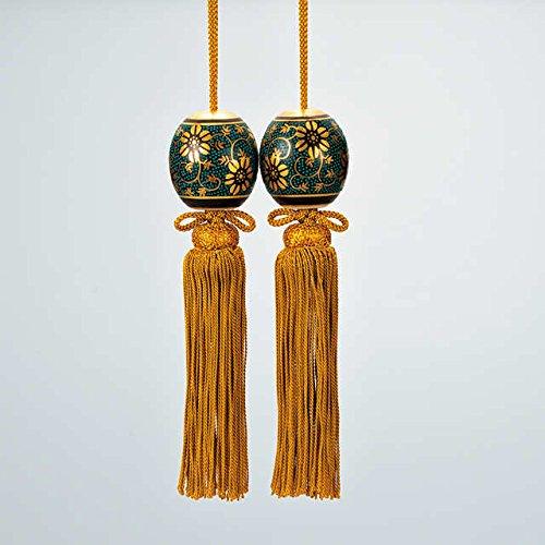 Japanese drawn Ceramic Porcelain kutani ware. Japanese hanging-scroll weight. Seiryu.'' Japanese ceramic Hagiyakiya 1326 by Kutani
