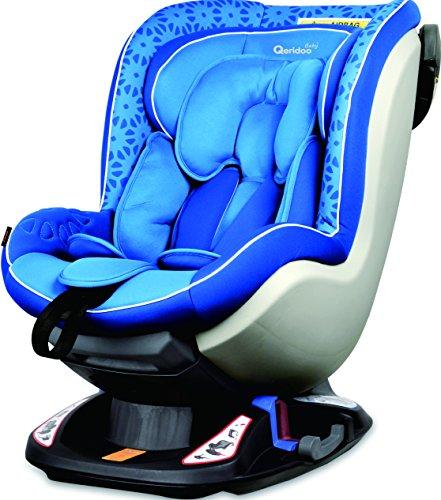 Qeridoo Q08-B6 Kinder Autositz Kinderautositz Autokindersitz  Cradle Me Gruppe 0+1/0-18 kg Kindersitz Pseudo-Reboarder, blau