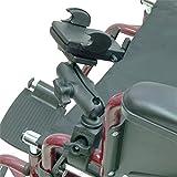 Rollstuhl Schienenbefestigung / tube Halterung mit Universal Handy Halter (SKU 21277)