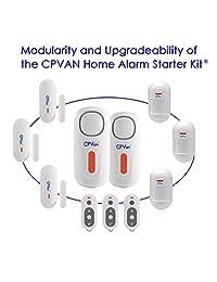 CPVAN Sensor de alarma de seguridad para puerta de ventana, sistema de alarma inalámbrico de seguridad para el hogar con 1 unidad de sirena, 2 sensores magnéticos y 1 mando a distancia, fácil instalación, ideal para el hogar apartamento CP1