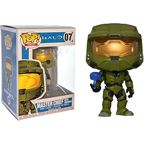 Master Chief w/ Cortana: Halo x Funko POP! Games Vinyl Figure + 1 Video Games Themed Trading Card Bundle [#007 / 30099]