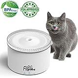 Flightbird Smart Cat Water Fountain - 3 Modes 5-Stage Purification Filter - IPX6 Waterproof Water Shortage Alert - Super Quiet Water Purifier - Pet Water Dispenser Feeder Bowl for Cat - Small Dog - Bird (2L)