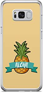 Samsung Galaxy S8 Transparent Edge Phone Case Aloha Phone Case Beach Phone Case Pineapple Samsung S8 Cover with See through edges