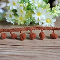 Pom Pom Mini Bobble Ball Fringe Braid Lace Trimming for Crafting Sewing Hats by Handicraft-Palace