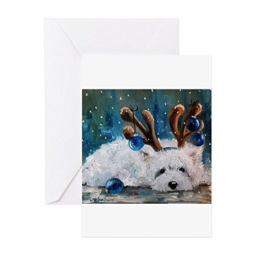 (CafePress - Blue Christmas - Greeting Card (20-pack), Note Card with Blank Inside, Birthday Card Matte)