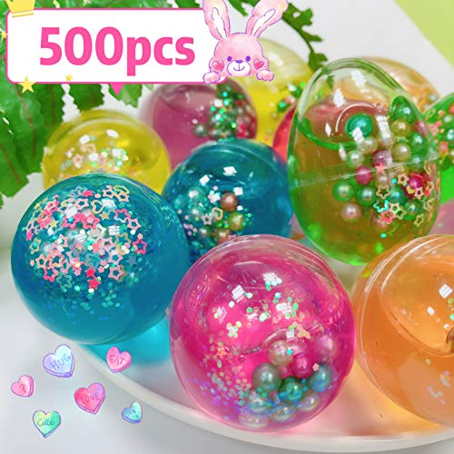 Dreamfun 500 Pack Easter Basket Stuffers Eggs Slime - Easter Eggs Slime Kit for Easter Decorations Parties, Perfect Easter Eggs Basket Gifts in a Bunny Delicate Gift Box for Toddlers Girls Boys