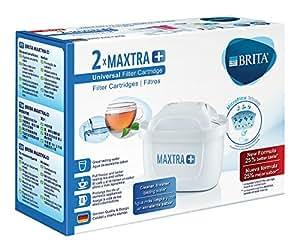 Brita Maxtra + Dos Filtros para El Agua, Cartuchos Filtrantes Compatibles con Jarras Brita que Reducen la Cal y El Cloro