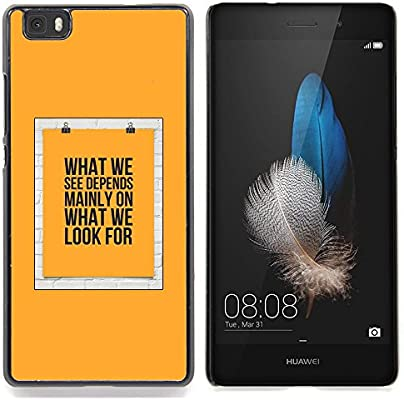 For Huawei Ascend P8 Lite (Not for Normal P8) Case , Cartel Significado Texto Amarillo