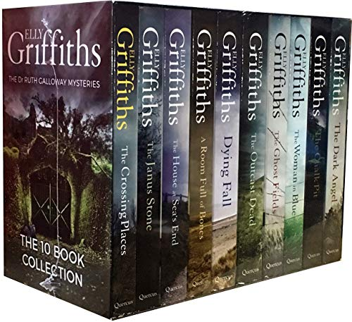 (The Dr Ruth Galloway Mysteries 10 Books Box Set by Elly Griffiths - The Dark Angel, A Room Full of Bones, The Outcast Dead, The Janus Stone, The Ghost Fields, The Crossing Places, A Dying Fall)