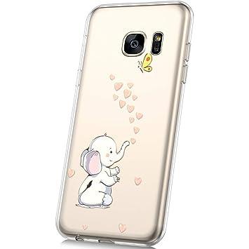 Amazon.com: PHEZEN Funda para Galaxy S7 Edge, diseño de arte ...
