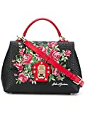 Dolce E Gabbana Women's BB6322AI232HNA30 Black/Red Leather Handbag