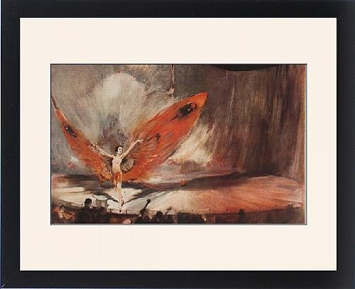 Showgirl Costumes Online (Framed Print of The Red Moth by William Barribal)