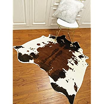 Amazon Com Cow Hide Skin Rug Cowhide Print Carpet Faux