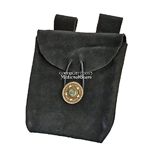 leather belt pouch medieval - 3