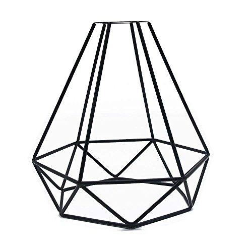 Retro Cage Light Shade, Jeffrien Vintage Industrial Metal Basket Diamond Cage Pendant Lamp Shape Lighting Fixture for Office Home Loft Bedroom - Shade Light Tapered Pendant