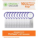 10 Allergen Filtration Vacuum Bags for ProTeam 6-Quart Backpack Vacuums; Compare to ProTeam Part No. 100431, 450227; Designed & Engineered by Think Crucial